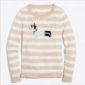 J. CREW Daschund Dog Teddie Sweater Size Small